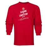 FC Santa Claus Sleighing the Competition Men's LS T-Shirt (Red)