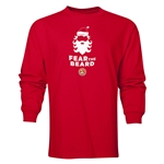FC Santa Claus Fear the Beard Men's LS T-Shirt (Red)