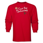 FC Santa Claus Don't Stop Believing Men's LS T-Shirt (Red)