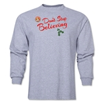 FC Santa Claus Don't Stop Believing Men's LS T-Shirt (Grey)