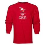 FC Santa Claus Milk and Cookies Men's LS T-Shirt (Red)