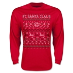 FC Santa Claus Christmas Sweater LS T-Shirt (Red)