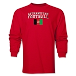 Afghanistan LS Football T-Shirt (Red)
