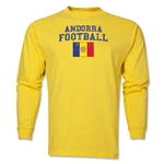 Andorra LS Football T-Shirt (Yellow)