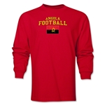 Angola LS Football T-Shirt (Red)