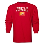 Bhutan LS Football T-Shirt (Red)