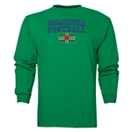 Dominica LS Football T-Shirt (Green)