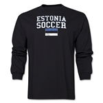Estonia LS Soccer T-Shirt (Black)
