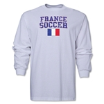 France LS Soccer T-Shirt (White)