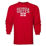 Georgia LS Soccer T-Shirt (Red)