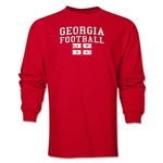 Georgia LS Football T-Shirt (Red)