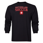 Switzerland LS Soccer T-Shirt (Black)