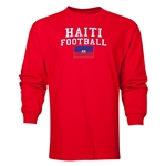 Haiti LS Football T-Shirt (Red)