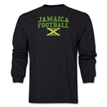 Jamaica LS Football T-Shirt (Black)