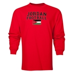 Jordan LS Football T-Shirt (Red)