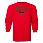 Kenya LS Football T-Shirt (Red)