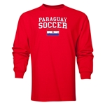 Paraguay LS Soccer T-Shirt (Red)