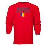 Romania LS Football T-Shirt (Red)