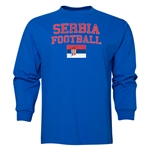 Serbia LS Football T-Shirt (Royal)