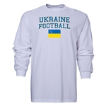 Ukraine LS Football T-Shirt (White)