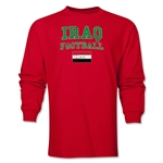 Iraq LS Football T-Shirt (Red)