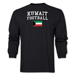 Kuwait LS Football T-Shirt (Black)