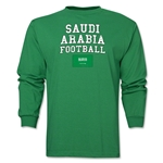 Saudi Arabia LS Football T-Shirt (Green)