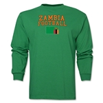 Zambia LS Football T-Shirt (Green)