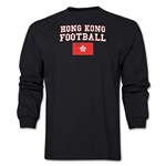 Hong Kong LS Football T-Shirt (Black)