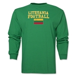 Lithuania LS Football T-Shirt (Green)