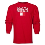 Malta LS Football T-Shirt (Red)