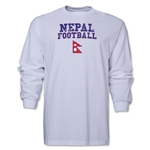 Nepal LS Football T-Shirt (White)