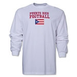 Puerto Rico LS Football T-Shirt (White)