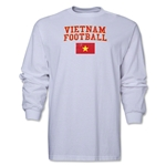 Vietnam LS Football T-Shirt (White)