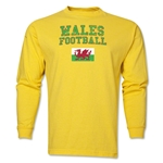 Wales LS Football T-Shirt (Yellow)