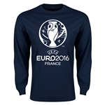 Euro 2016 Core Emblem Long Sleeve T-Shirt (Navy)