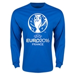 Euro 2016 Core Emblem Long Sleeve T-Shirt (Royal)