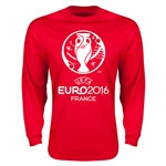 Euro 2016 Core Emblem Long Sleeve T-Shirt (Red)