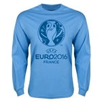 Euro 2016 Core Emblem Long Sleeve T-Shirt (Sky Blue)