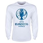Euro 2016 Core Emblem Long Sleeve T-Shirt (White)
