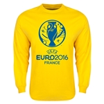Euro 2016 Core Emblem Long Sleeve T-Shirt (Yellow)