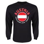 Austria Euro 2016 Core Emblem Long Sleeve T-Shirt (Black)