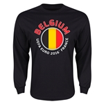 Belgium Euro 2016 Core Emblem Long Sleeve T-Shirt (Black)
