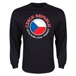 Czech Republic Euro 2016 Core Emblem Long Sleeve T-Shirt (Black)