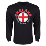 England Euro 2016 Core Emblem Long Sleeve T-Shirt (Black)
