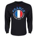 France Euro 2016 Core Emblem Long Sleeve T-Shirt (Black)