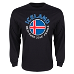 Iceland Euro 2016 Core Emblem Long Sleeve T-Shirt (Black)