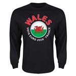 Wales Euro 2016 Core Emblem Long Sleeve T-Shirt (Black)