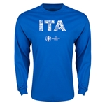 Italy Euro 2016 Element Long Sleeve T-Shirt (Royal)