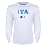 Italy Euro 2016 Element Long Sleeve T-Shirt (White)